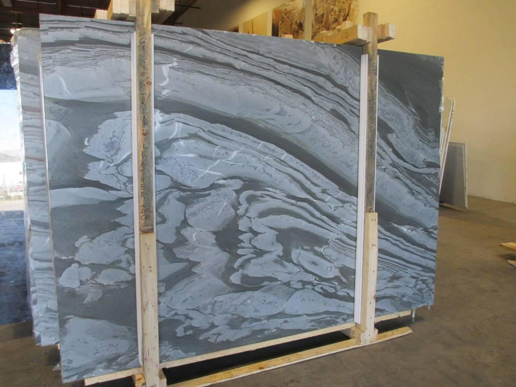Grigio Striato Leather Slabs Italian Grey Marble Slabs