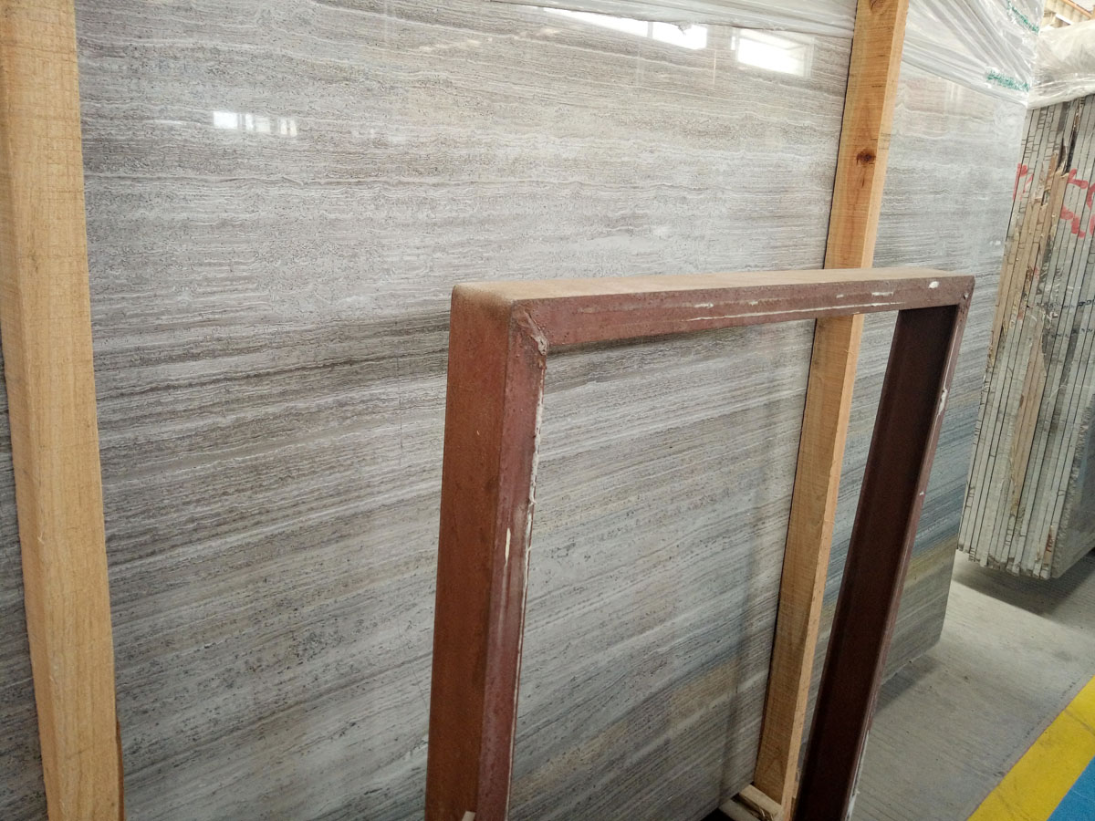 Guizhou Grey Wood Line Marble Slabs