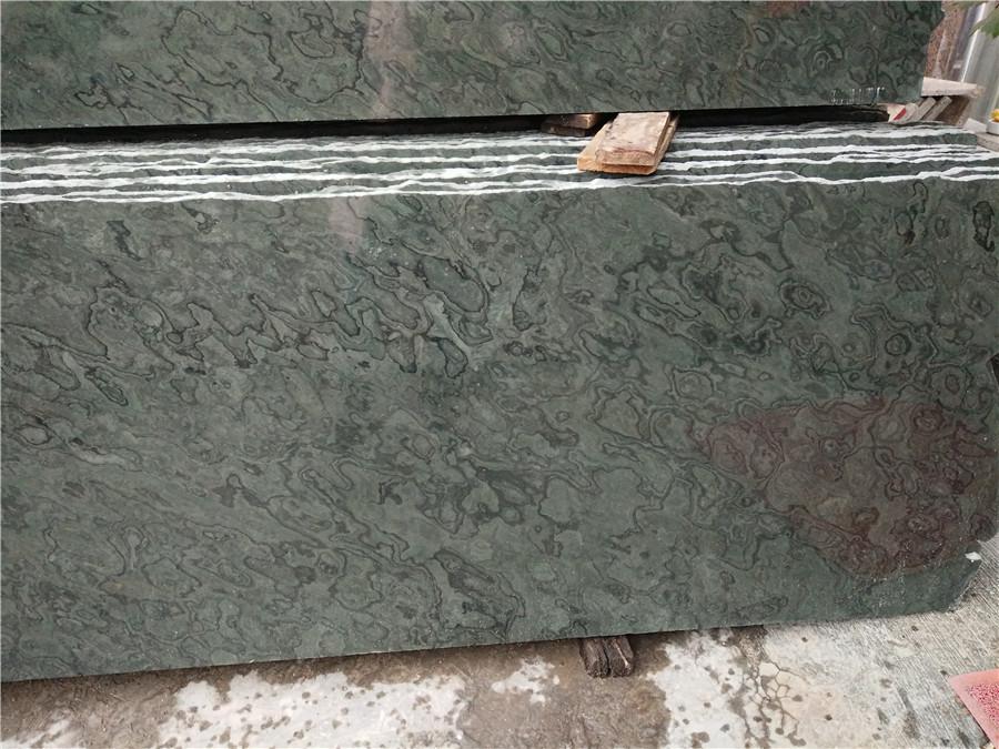 Guizhou Landscape Grain Marble Green Marble Countertops