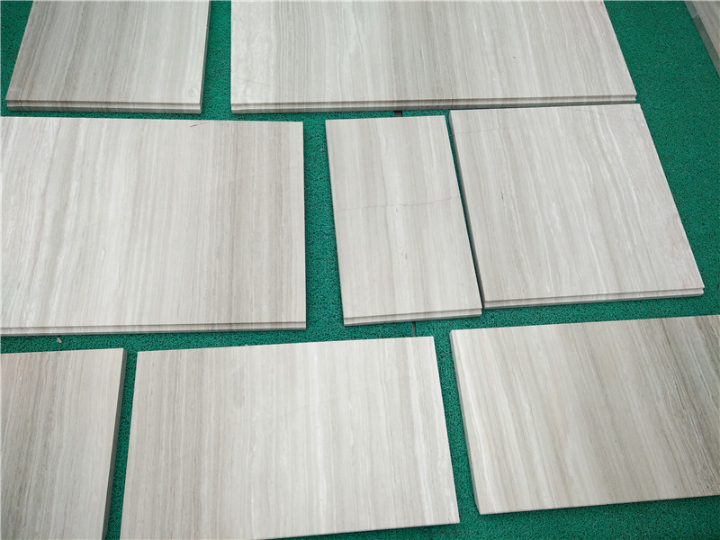 Guizhou White Wood Line Marble Polished Tiles