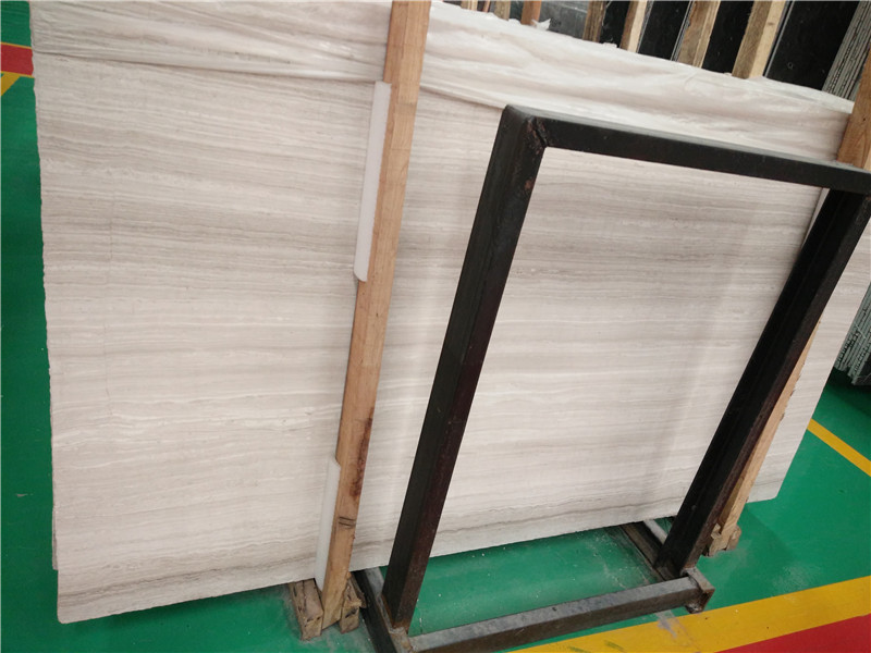 Guizhou White Wood Line Marble Slabs