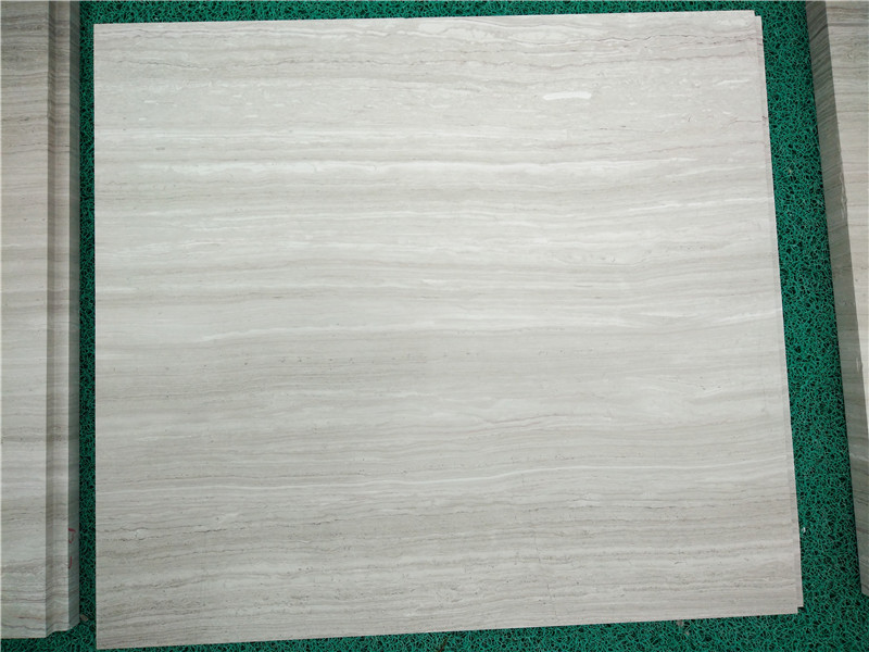 Guizhou White Wood Line Marble Tiles Chinese White Polished Tiles