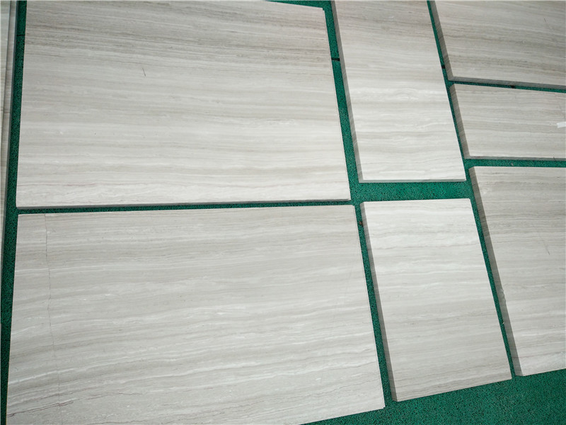 Guizhou White Wood Line Marble Tiles