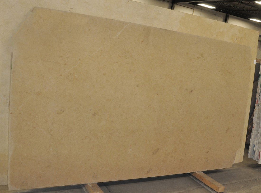 Hauteville 3cm Limestone Honed Slabs France Yellow Limestone Slabs