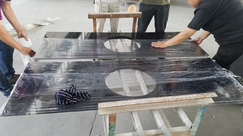China Hebei Absolute Black Granite Bathroom Countertops
