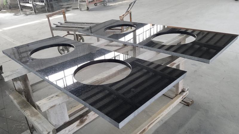 Hebei Black Granite Counter Tops for Bathroom