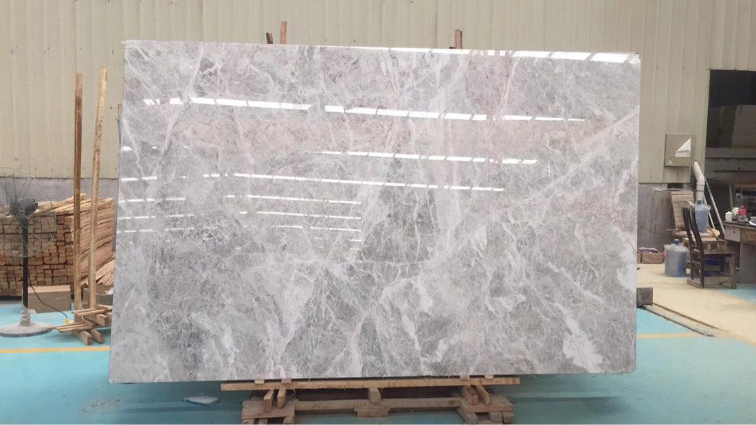 Hermes Grey Marble Polished Slabs from Chinese Slabs