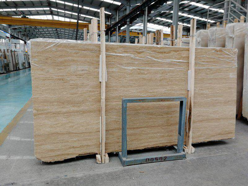 High Quality Beige Color Travertine Slabs