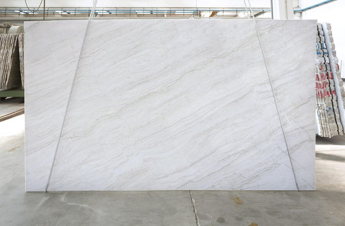 High Quality Big White Quartzite Slabs from UK Supplier