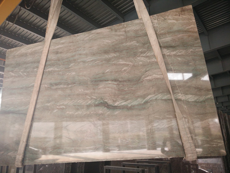 High Quality Brazil Green Polished Quartzite Slabs