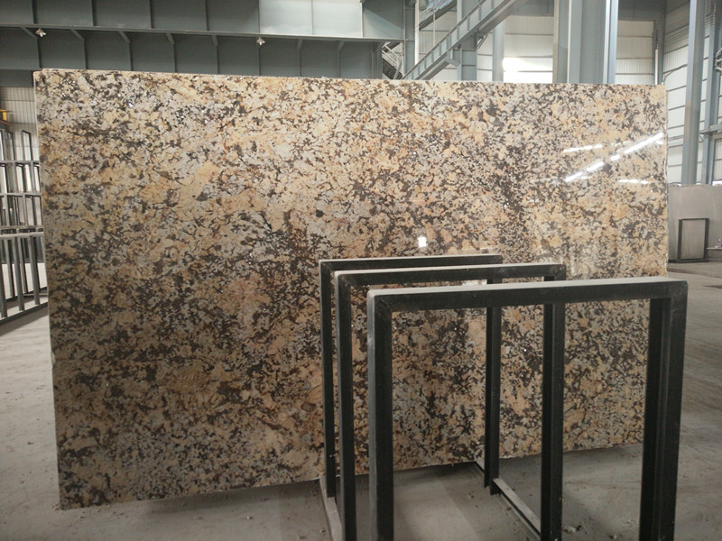 High Quality Buterfly Yellow Granite Polished Big Slabs from China