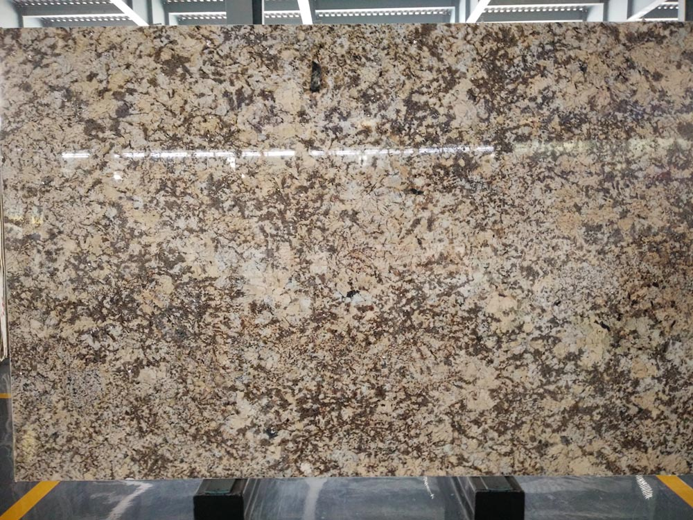High Quality Crystal Yellow Granite Polished Big Slabs