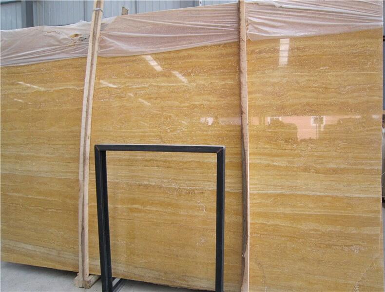High Quality Golden Travertine Slabs