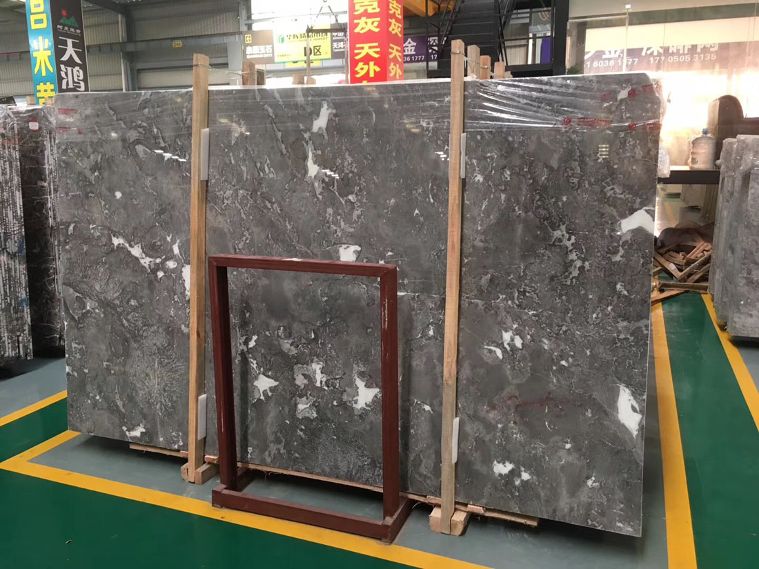 High Quality Grey Marble Slabs Romantic Grey Marble Slabs