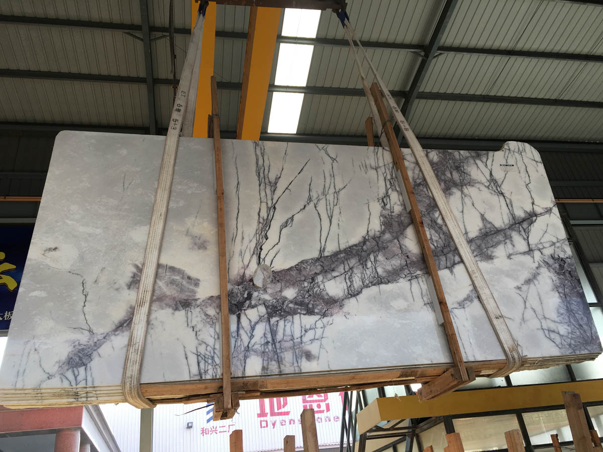 High Quality Marble Slabs Chinese Fragrant Snow Plum Blossom White with Grey Marble