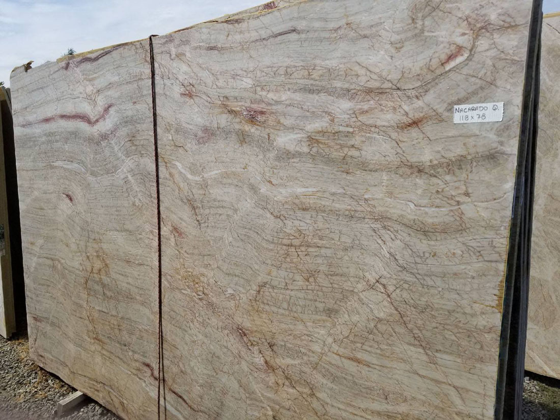 High Quality Nacarado Quartzite Slabs Beige Polished Quartzite Slabs