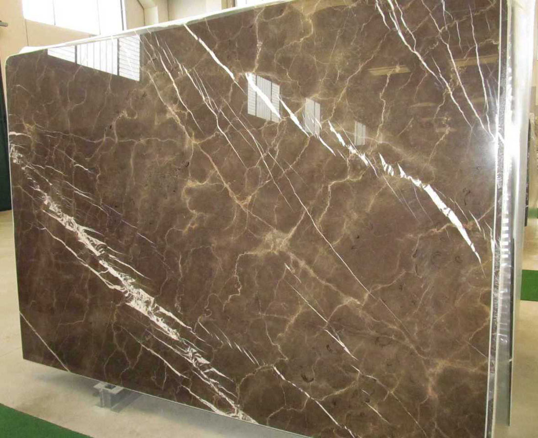 High Quality Pietra Brown Marble Slabs