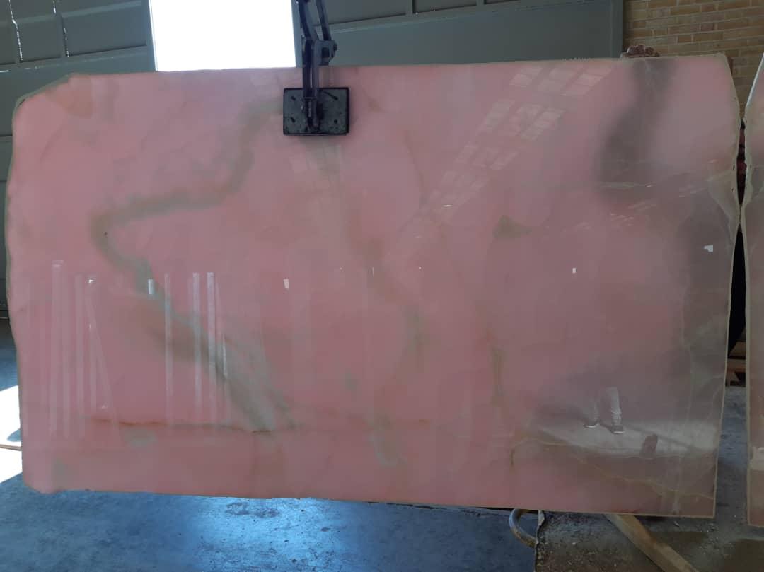 High Quality Pink Onyx Slabs Iranian Polished Onyx Slabs