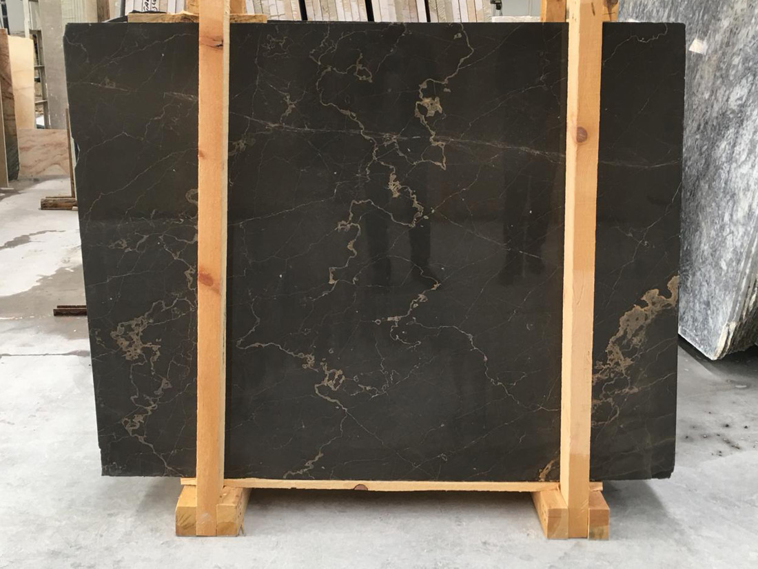 High Quality Polished Olive Marron Marble Slabs