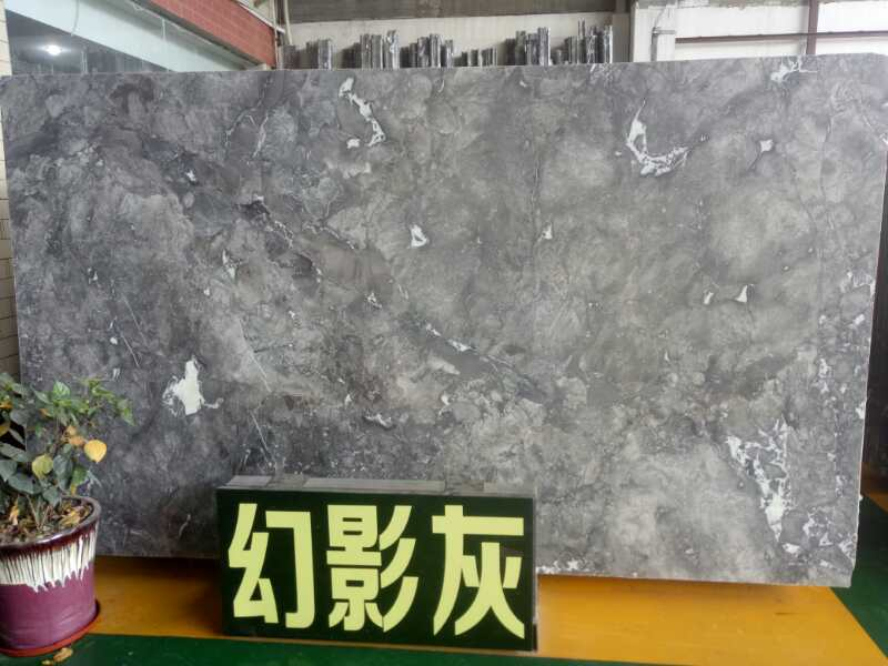 High Quality Polished Phantom Grey Marble Slabs