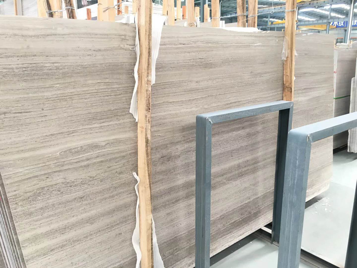 High Quality Polished Wooden Marble Slabs