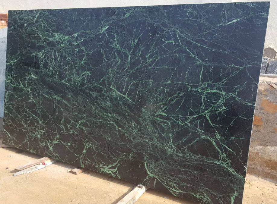 High Quality Spider Green Marble Slabs from India