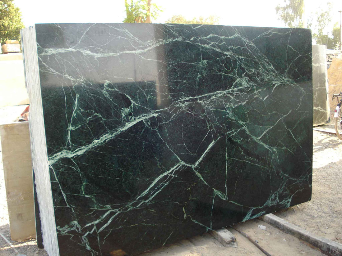 High Quality Spider Green Slabs Polished Green Marble Slabs