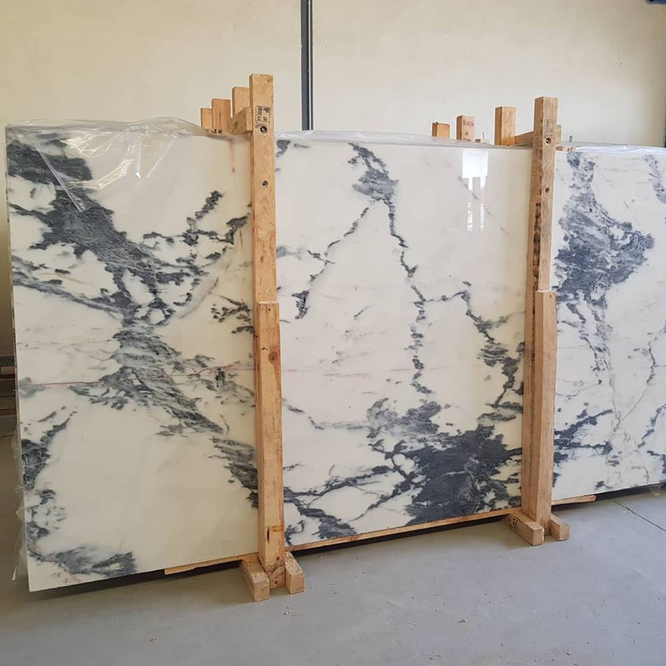 High Quality White Marble Slabs Calacatta Nero Slabs