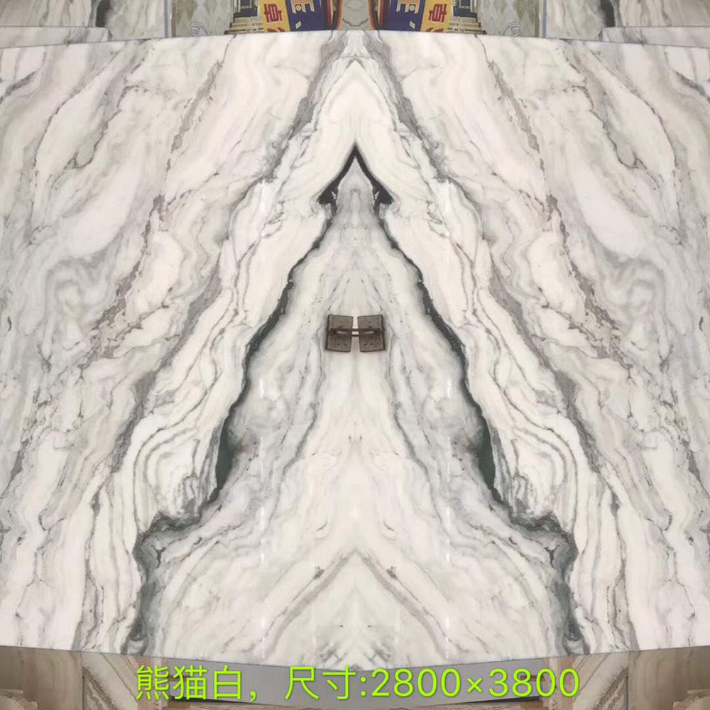 High Quality White Marble with Black Veins Marble Slabs