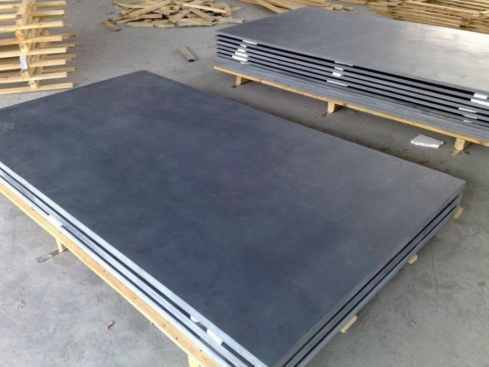 Honed Billiard Black Slate Flooring Tile Slabs