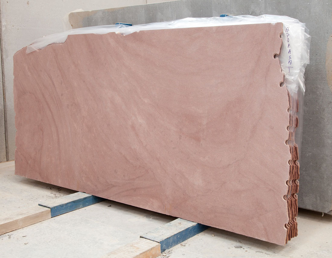 Honed Red Sunset Sandstone Slabs from Spain