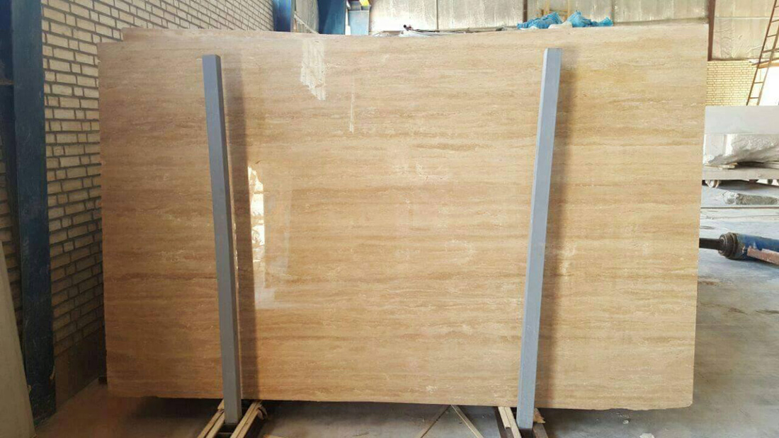 Honey Beige Travertine Slabs Polished Travertine Beige Slabs