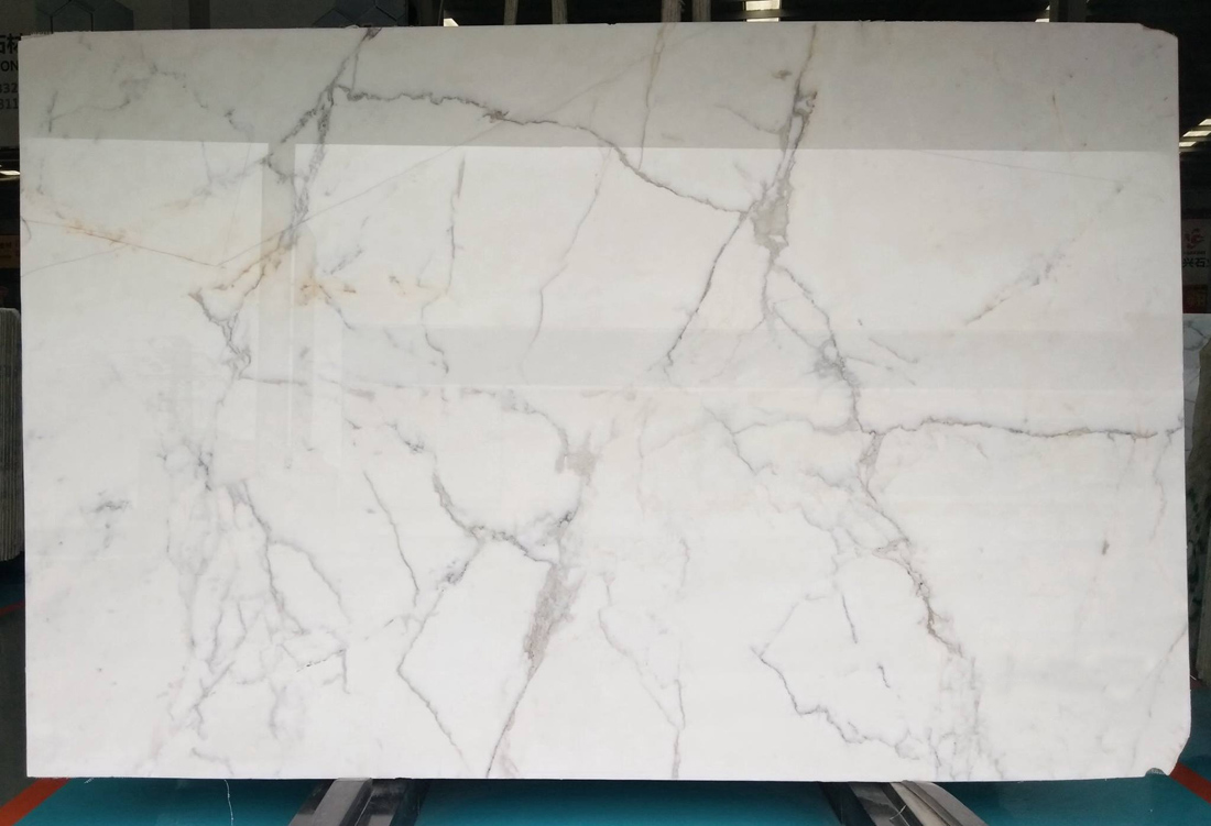 Hot Selling Calacatta White Marble Slab Polished White Stone Slabs