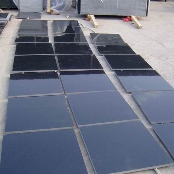 Hot Selling Chinese Granite Hebei Black Polished Granite Tiles