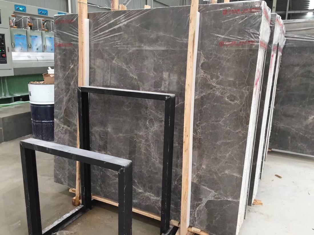 Hot Selling Hermes Ash Marble Slabs Grey Marble Slabs
