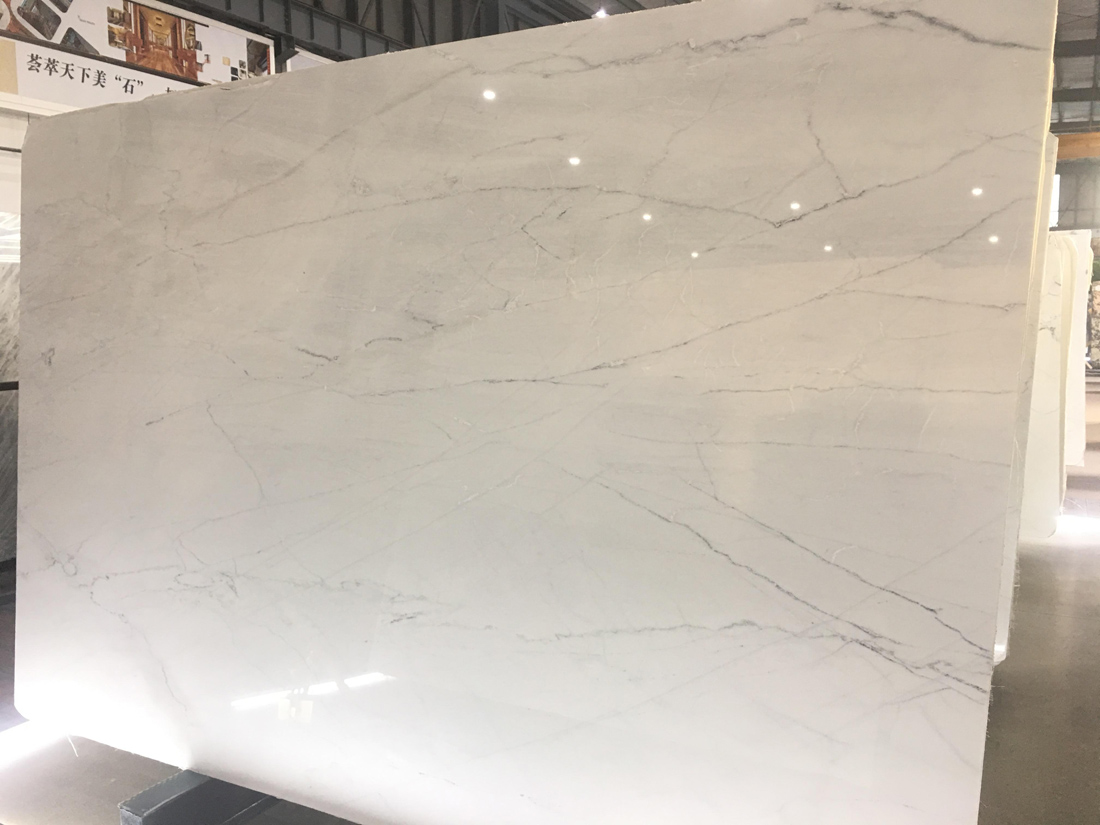 Hot Selling Lincoln White Marble Polished Slabs