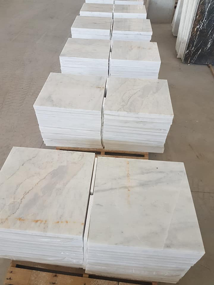 Hot Selling Mugla Beyaz Polished White Marble Tiles
