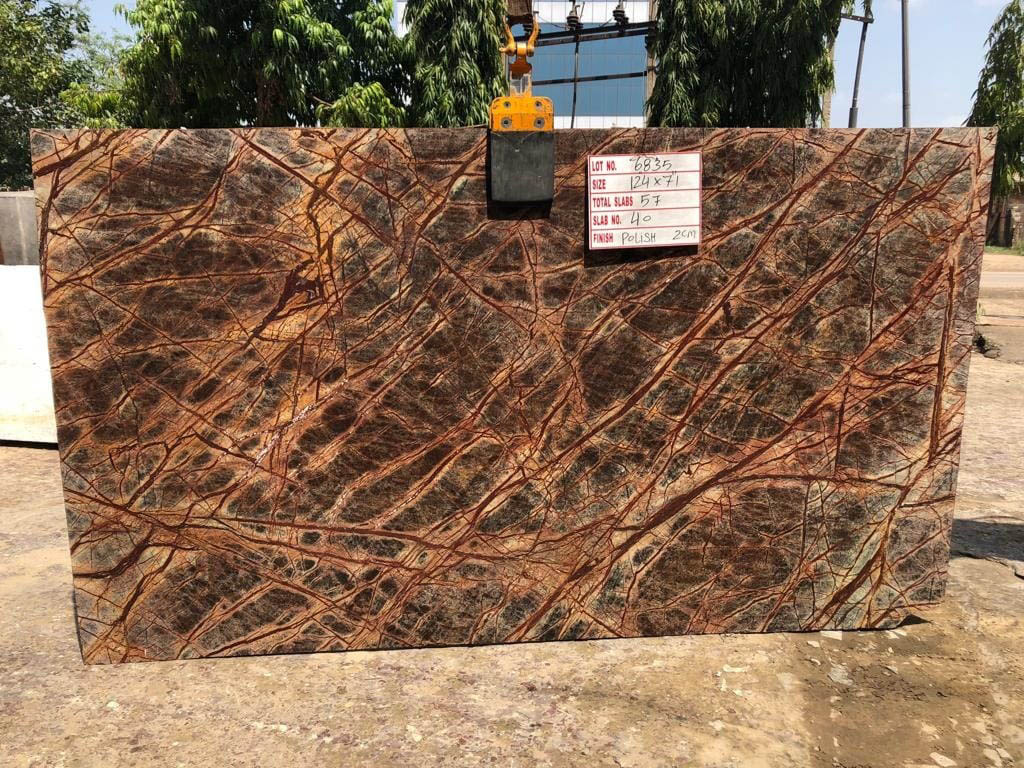 Hot Selling Rainforest Brown Marble Slabs
