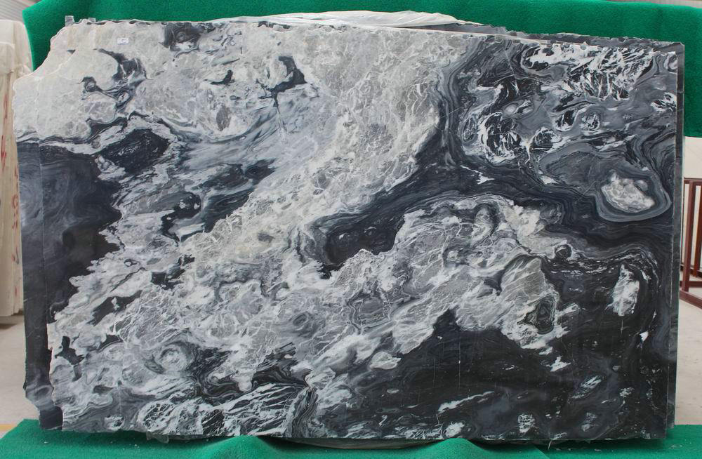 Hot Selling Serpeggiante Black Polished Marble Slabs