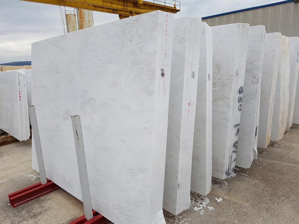 Hot Selling White Polished Volakas Marble Slabs