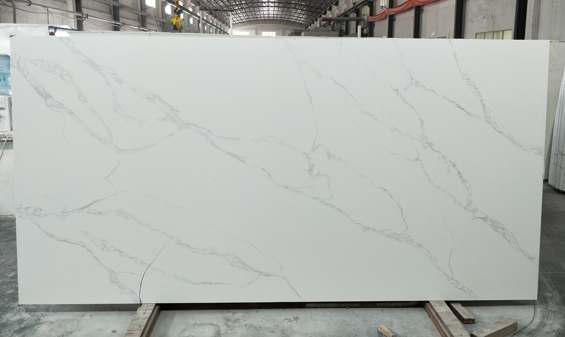 Hot Selling White Quartz Slabs for Kitchen Countertops