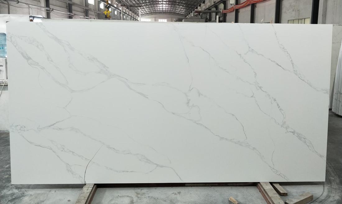 Hot Selling White Quartz Slabs for Kitchen Countertops