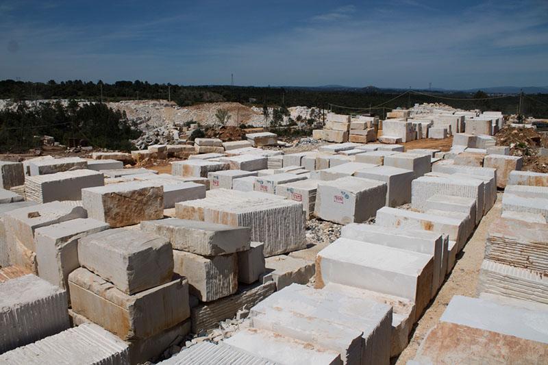 limestone beige blocks