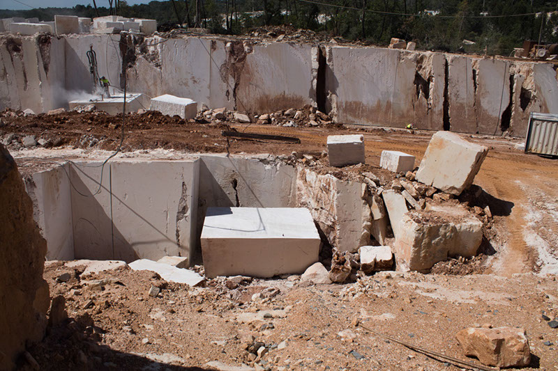 beige limestone stone blocks