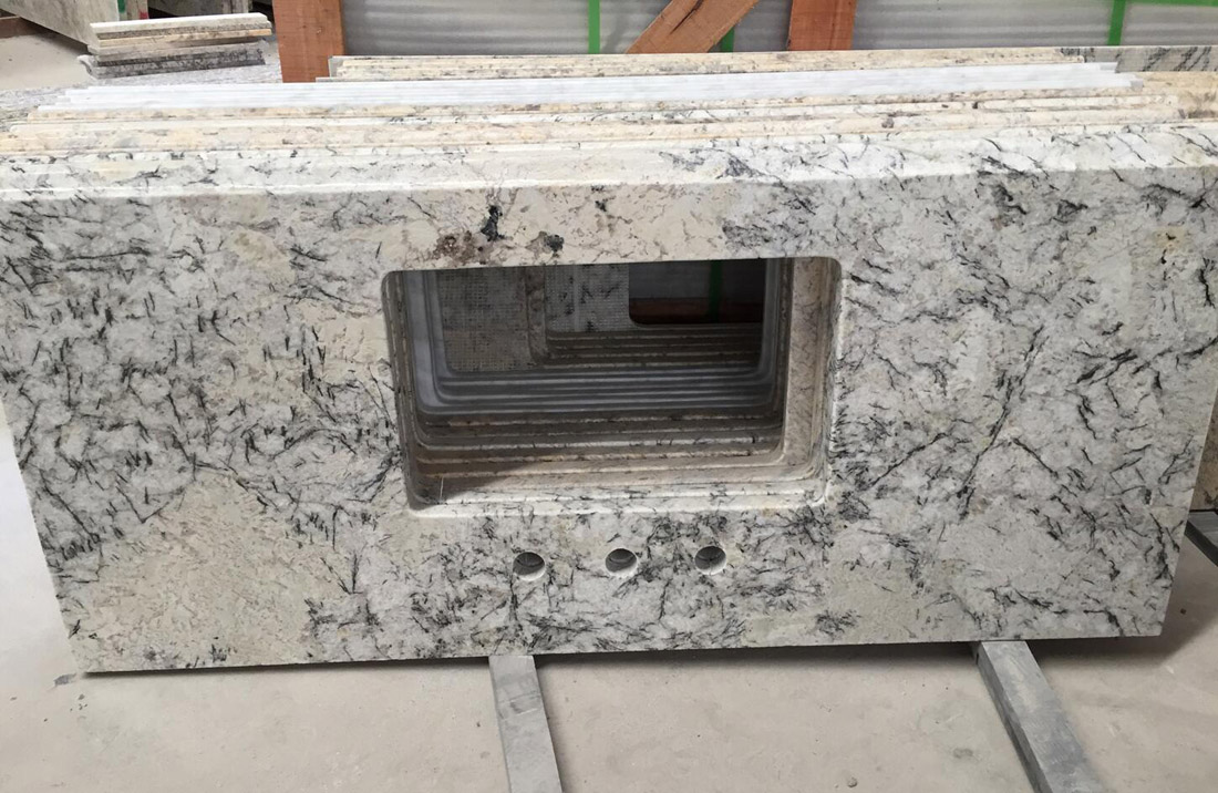 Ice Blue Granite Bathroom Vanity Top with Top Quality