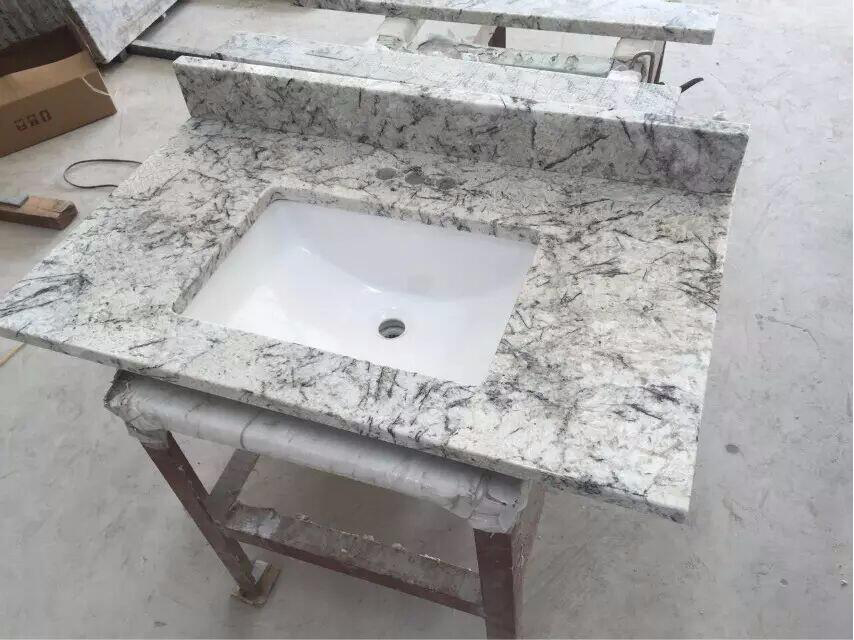 Ice Blue Granite Bathroom Vanity Top