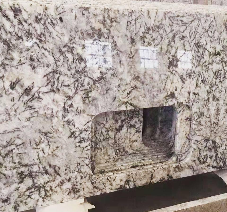 Ice Blue Granite Polished White Granite Kitchen Countertops