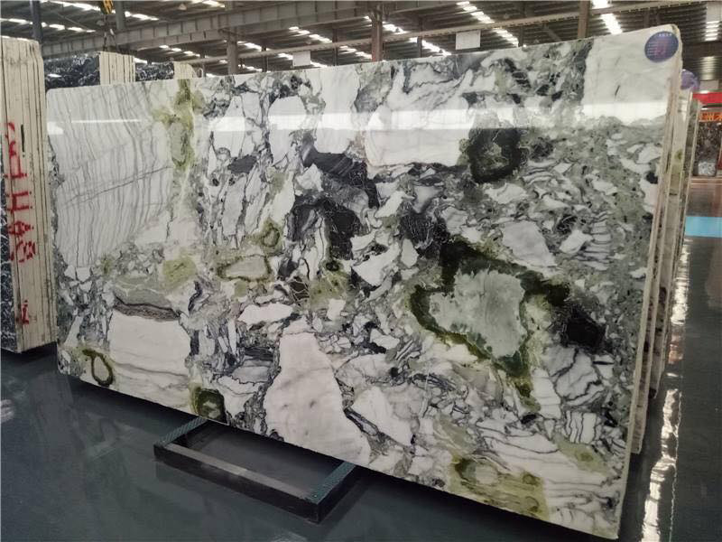 Ice Jadeite Marble Slabs Polished Green Marble Slabs