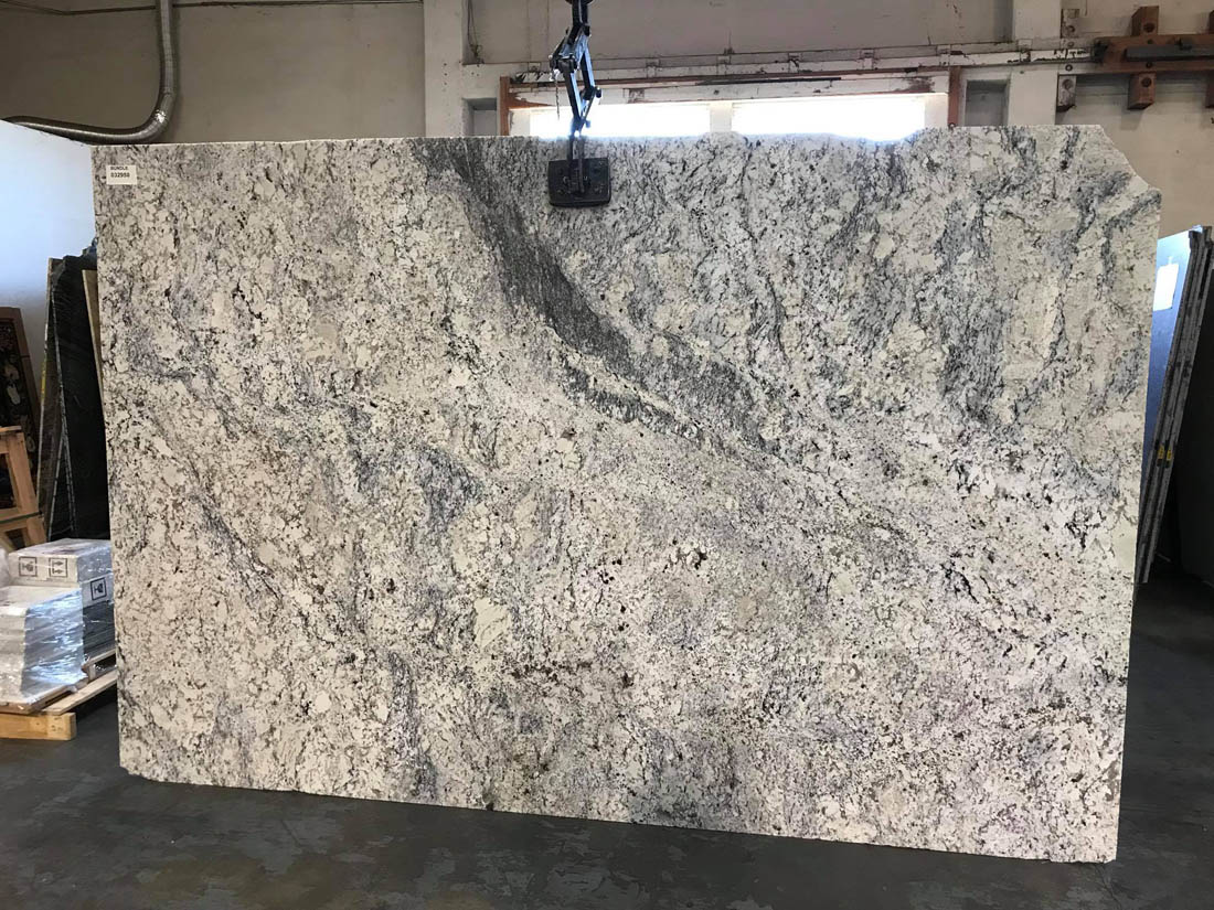Ice White Granite Polished Granite Slab