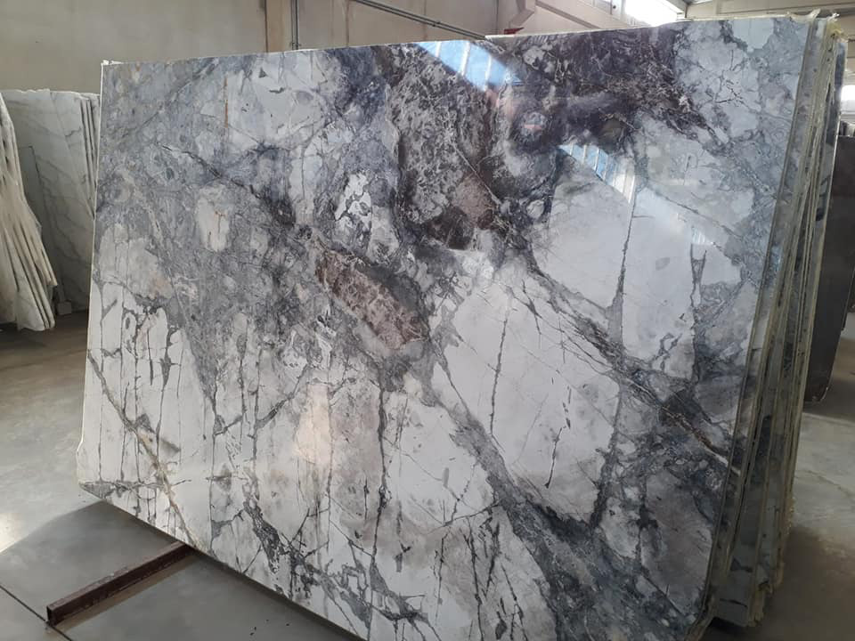 Iceberg Blue Marble Polished Marble Slabs